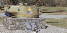 10th Armored Division plaque Bastogne