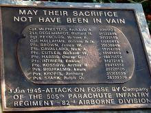 Monument to I Company of the 505th PIR 82nd Airborne