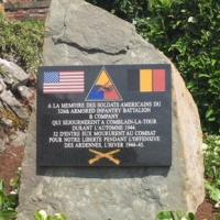 Monument to Company B of the 526 Armored Infantry Battalion