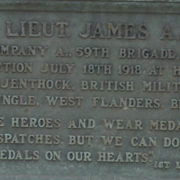 Plaque for James A. Pigue