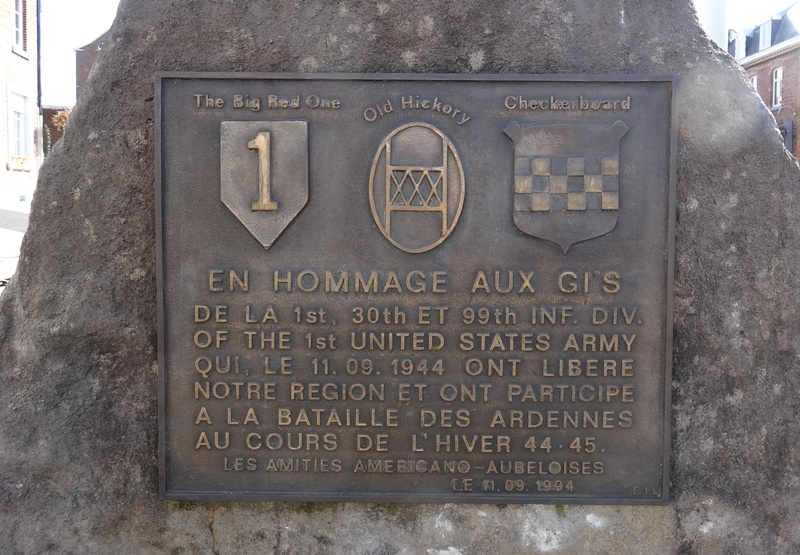 Monument to 1, 30, and 99 ID Aubel