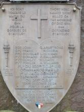 Monument to the 825th TD Bn on the Old Castle Road in Stavelot