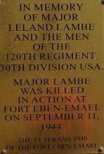 Leland Lambe plaque