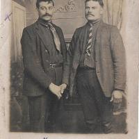 Octaaf Desmet and friend