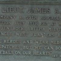 Plaque for James A. Pigue